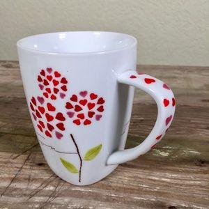 Starbucks cup mug 2007 I love you heart flower
